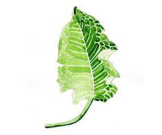 stevie-liudmila Green Leaves, Plant Leaves, Painting & Drawing, Paintings, Drawings, Plants, Paint, Painting Art, Sketch