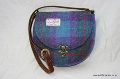 Harris Tweed Saddle Bag in a gorgeous purple and by Ten10Creations, £89.00