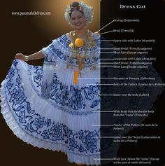 Pollera Dress Details
