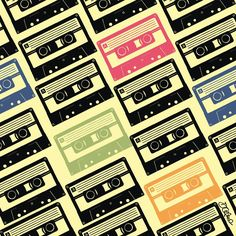 rapport #4 - cassettes #illustration #rapport #cassette #pattern #drawing #art