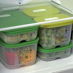 Fridge Smart, keep your veggies, fruits herbs fresh so they won't spoil…
