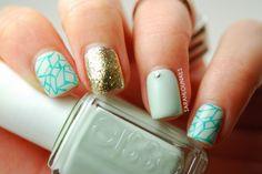 Blue Skittlette Nails!