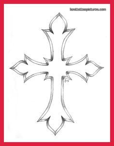 Cross Outline Tattoo Designs | cross-tattoo-designs-for-men-pictures-photos-pics-photos-videos-ideas ...
