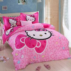 Cartoon Hello Kitty Girls Bedding Set     Tag a friend who would love this!     FREE Shipping Worldwide     Buy one here---> https://www.cancoot.com/cartoon-hello-kitty-girls-bedding-set/