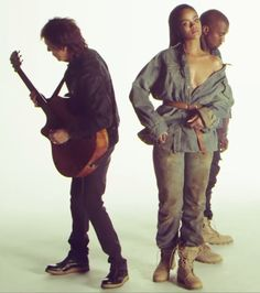 """Rihanna Showcases Denim Style for """"FourFiveSeconds"""" Behind The Scenes with Kanye West and Paul McCartney 
