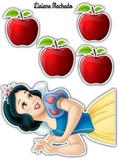 Minnie Mouse Cake Topper, Princess Cake Toppers, Frozen Cake Topper, Disney Princess Books, Disney Princess Party, Aaliyah Birthday, Happy Birthday Art, Snow White Birthday, Snow White Disney