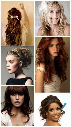 Couldn't find the pictures I had but the middle one on the right (red hair) is so pretty. @Aimee Wyatt
