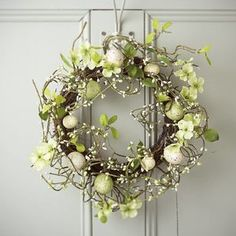 Pale Green Egg Easter Wreath