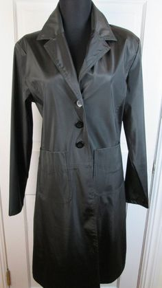 Women's Black Trench Coat Size M #Handmade #BasicJacket