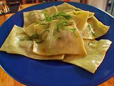 Alton Brown Ravioli (Hand Rolled) from FoodNetwork.com. I'm going to use Butternut Squash instead of his Meatloaf!!