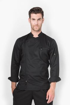 Zephyros Chef Jacket | Aris Uniforms Dental Uniforms, Dental Shirts, Chef Dress, Cafe Uniform, Chef Shirts, Restaurant Uniforms, Uniform Design, Cafe Style, Style Guides