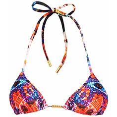 Look Z Swimwear - Blue Coral Snake Bikini Top (63 CAD) ❤ liked on Polyvore featuring swimwear, bikinis, bikini tops, triangle swim wear, snake print bikini, tankini tops, bikini swimwear и triangle bikini