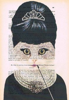 Hey, I found this really awesome Etsy listing at https://www.etsy.com/listing/191203429/audrey-hepburn-cat-print-poster
