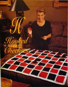 Crochet Pattern Checkerboard Game Board Afghan Checkers | eBay