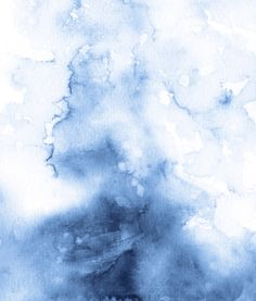 Watercolour Texture Indigo Art Print