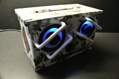 "Digital Snow Camo Version! Airport Express, Boss 200W Car Audio Amp, Bass Face 400W 4"" Speakers!"