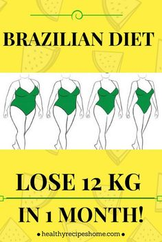 "What do you think of when you see the words ""Brazilian"" and ""weight loss""? If you're like many, you think of the tall-and-toned bodies of Brazil-born models like Gisele Bundchen and Adriana Lima. This Brazilian Diet should become your favorite. However, this isn't a diet plan designed by some celebrity trainer in order to get a model body. This is a brand new Brazilian way of eating and it may look strict for some of you. The Brazilian Diet is all about getting healthy and weight loss is a…"