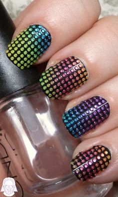 Beaded nail art - one of those stickers from Sephora