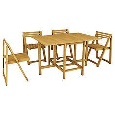Comedor Plegable Madera 5 piezas-Sodimac.com