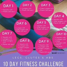 Hey Mama fancy a challenge?! We've put together this 10 day LEGS GLUTES AND ABS fitness challenge to get that lower body toned and strong! All lunges are repeated on each leg. Don't forget to tag a friend and show us your progress using the #mybaby2body hashtag All moves safe for the first trimester and for new mamas whove been cleared by the doctor. If youre pregnant and in your 2nd or 3rd trimester leave out the plank and just do the lower body exercises #baby2body #fitmum #fitmom…