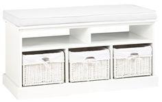 Ławka OURE 3 szuflady poduszka biała | JYSK