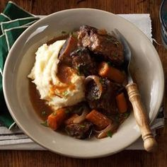 Pressure Cooker Short Ribs Recipe -These short ribs are exploding with flavor and tenderness. They are a quick and easy alternative to traditionally braised short ribs. Serve with egg noodles, rice, or polenta.—Rebekah Beyer, Sabetha, Kansas