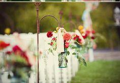 Beautiful outdoor ceremony decor. ..Simple, yet very elegant (MLH)