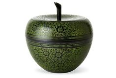 Dessau Home Verdi Finish Apple Decorative Accessories, Decorative Items, Apple Boxes, Shops, One Kings Lane, Objects, Vase, Display, Traditional