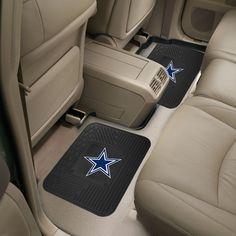 Dallas Cowboys 2-Piece Heavy Duty Vinyl Rear Auto Floor Mats