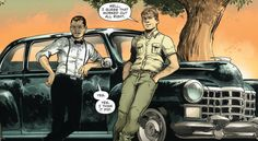 Alfred Pennyworth and Jonathan Kent watching over young Bruce and Clark (Batman/Superman #3, Yildiray Cinar)