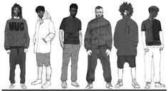 menswear illustrations - Google Search  different figures