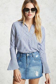 Striped Popover Shirt