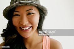 Stock Photo : Korean woman smiling