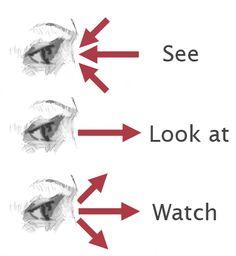 Entérate de la diferencia entre los verbos see, look y watch...porque son de aquellas palabrejas confusas que nos traen de cabeza...