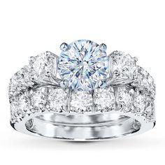 Diamond Bridal Setting 1 7/8 ct tw Round-cut 14K White Gold