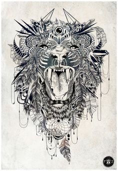 Lion by Feline Zegers, via Behance