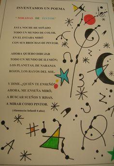 """El proyecto surge a partir de la realización de la lámina """"PEZ CANTANDO"""" en el proyecto de """"Los animales"""", les gustó tanto la activida... Interactive Walls, Art Worksheets, Classroom Crafts, Joan Miro, Art Party, Art Plastique, Teaching Art, Artist Art, Art Education"""