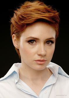 Karen Gillan - I really don't know whether to pin this to Doctor Who or Marvel at this point.  LOL