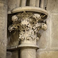 A capital on a column in the Bayeux Cathedral