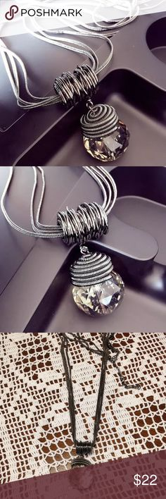 Necklace Brand new. Alloy material. Dark gray or kind of black color. Jewelry Necklaces