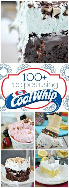 Cool Whip Recipes - has dulce de leche and cherry ice cream recipes