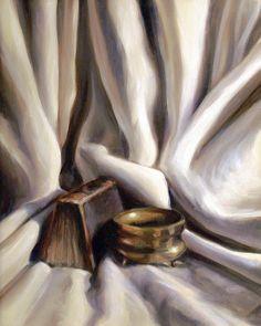 Still Life Paintings Painting - Drapery, Still Life by Laura Ury Watercolor Fabric, Fabric Painting, Drapery Drawing, Drapery Designs, Gcse Art, Still Life Art, Line Drawing, Mixed Media Art, Art Inspo