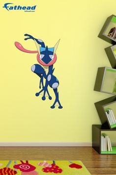 Discover Fathead's removable vinyl wall decals and give your kids bedroom an easy update! SHOP Pokémon wall graphics at  http://www.fathead.com/kids/pokemon/greninja-wall-decal/ | DIY Kids Fun Bedroom Decor Ideas | Boys + Girls Bedroom Wall Art Decor