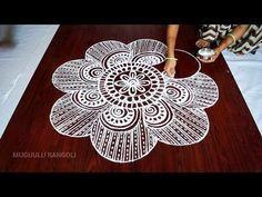 muggulu designs without dots || free hand rangoli designs || muggulu designs || kolam designs - YouTube