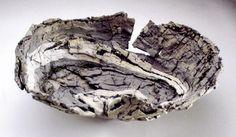 Claudi Casanovas, Split bowl 1987. Stoneware, mixed clays, including clay from Moutiers-en-Puisaye, c.50cm diameter
