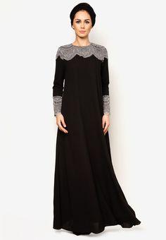 J Abaya Carina dari Zalora Islamic Fashion, Muslim Fashion, Modest Fashion, Fashion Dresses, Mode Abaya, Mode Hijab, Moda India, Abaya Dubai, Arabic Dress