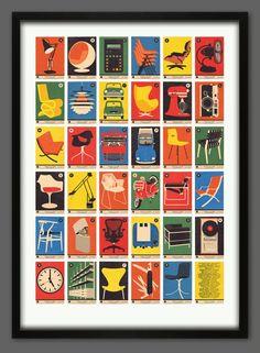 Iconische designs op posters van 67 Inc.   | roomed.nl