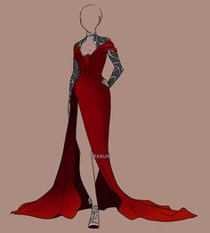 Custom Fashion for . (This outfit is to be used by the commissioner only.) Design (c) InkieRose Art (c) Karijn-s-Basement Custom Fashion 14 Dress Drawing, Drawing Clothes, Dress Sketches, Fashion Sketches, Drawing Fashion, Fashion Mode, Fashion Art, Fashion Design, Anime Outfits