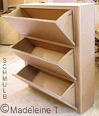 1000 id es sur le th me meuble chaussures sur pinterest bancs de stockage - Fabriquer un meuble a chaussures facile ...