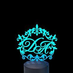 Acrylic lamp Monograms of your choice Monograms, Neon Signs, Led, Monogram